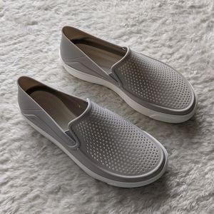 Crocs Grey Slip On Shoes